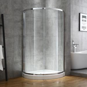 Prosto 32 X 32 Round Shower Enclosure Hinged Door Diseno De Banos Chicos Diseno Banos Pequenos Cuartos De Banos Pequenos