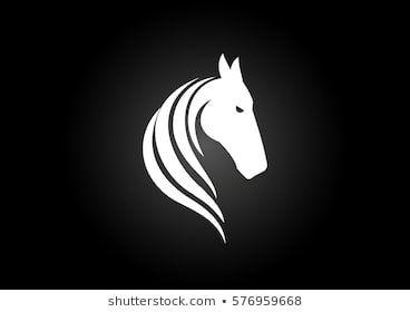 Logo Sign Icon Template White Horse Head Horses Horse Head Horse Logo