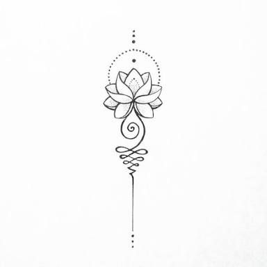 Image Result For Unalome Lotus Flower Meaning Tatoo Tattoos