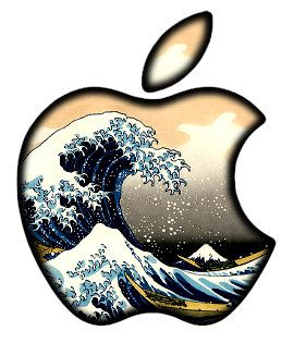Translucent Waves Apple LED Logo Overlay MacBook MacBook Pro - Custom vinyl decals for macbook pro