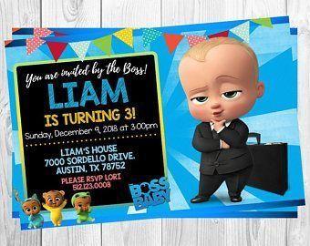 Invitación Baby Boss Baby Invitations Baby Birthday Boss