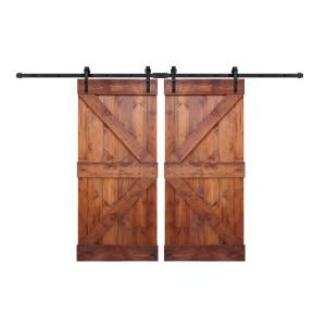 Steves Sons 24 In X 80 In 2 Panel Solid Core Prefinished Natural Knotty Alder Interior Barn Door Slab J64jknnnacp9 The Home Depot In 2020 Interior Barn Doors Double Sliding Barn