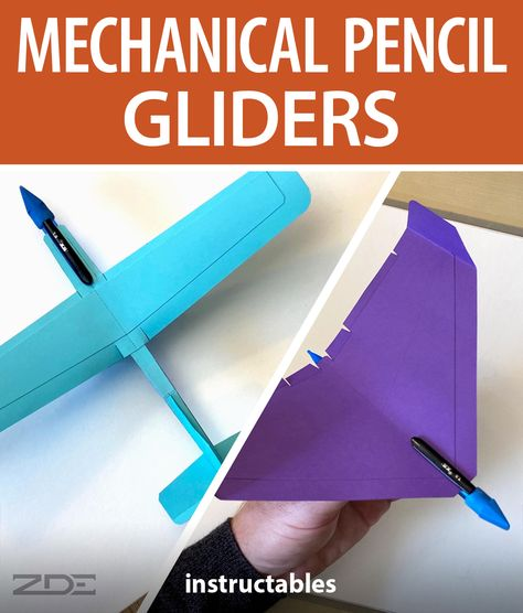 zdedesigns latest plane designs consist of tailless delta and standard configuration mechanical pencil gliders. #Instructables #workshop #papercraft #outdoors #backyard