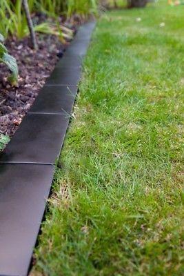 Musta Reunus Lawn Sarmays Border Brick Style Modern Maisemointi Piha Easy Edge Ebay In 2020 Brick Garden Edging Modern Landscaping Lawn Edging
