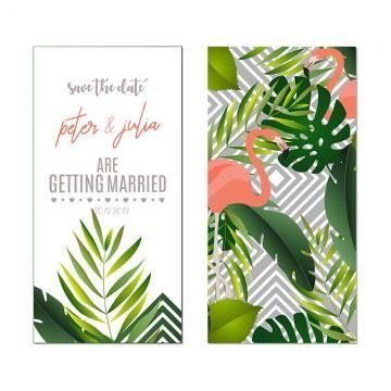 Tropical Style Wedding Invitation Card Cartoes De Convite De Casamento Convite De Casamento Melhores Convites De Casamento