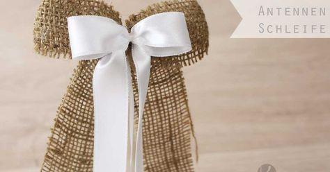 Antenne Schleife Antennenschleifen Auto Autoschleifen Selber Basteln Anleitung Kosten Autoschleifen Billige Hochzeitsideen Tischdeko Hochzeit Selber Machen