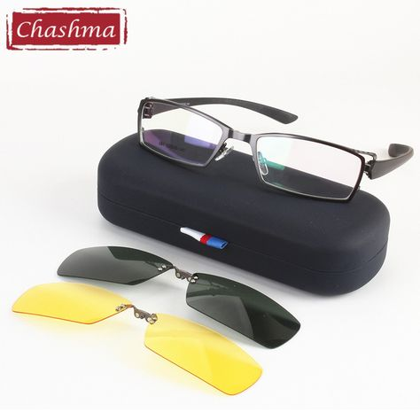 a6dd4ea3915b2 Chashma Men Fishing and Driving Clip Polarized Sunglasses Quality Optical  Mopia Glasses Frame for Day and Night