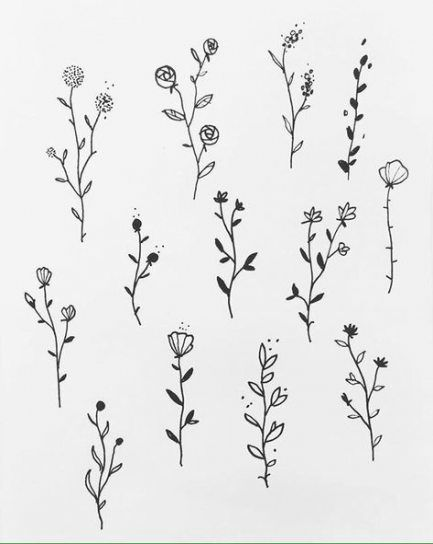 23 Ideas For Painting Easy Flowers Simple Beautiful Flower Drawings Flower Drawing Flower Drawing Design