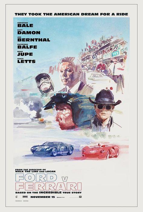 Ford v Ferrari Poster Movie Art Silk Poster Canvas Film Home Decor Print 24x36/'/'