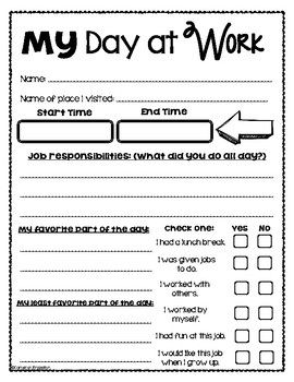 Take Your Child To Work Day Reflection Observation Sheet Activity Decision Making Activities Working With Children Activities