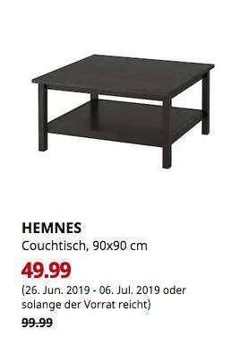 Ikea hemnes couch Tisch (schwarzbraun)