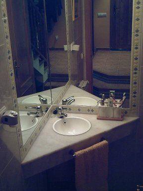 Lavamanos De Esquina Decoracion De Bano Elegante Espejos Para