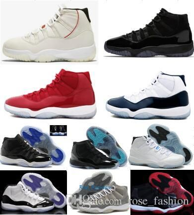 94fd33b7f08c19 11 Gym Red Platinum Tint Basketball Shoes Prom Night Concord Space Jam Jams  Legend Gamma Blue