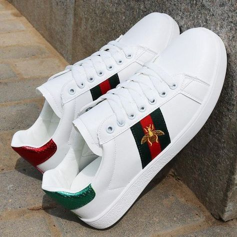 Buy original Gucci     Ace aus Leder with free shipping #sneakers #fashion #shoes #sport #men #woman #style  #Gucci #AceausLeder #Gucci