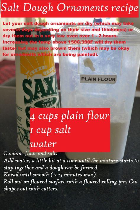 Salt dough Recipe - Mudpies and Sunshine
