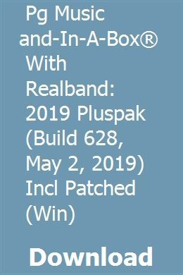 Pg Music Band-In-A-Box  With Realband: 2019 Pluspak (Build