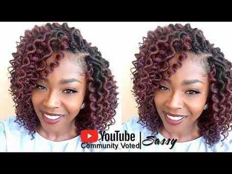 How to Crochet Freetress Curly Faux Loc Bob Mix {#RenewedMix} - YouTube