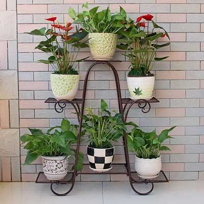 Incredible Wrought Iron Flower Pots And Beautiful Decoration