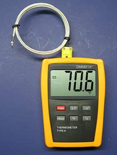 K Type Scientific Digital Thermometer Dm6801 With High Temperature