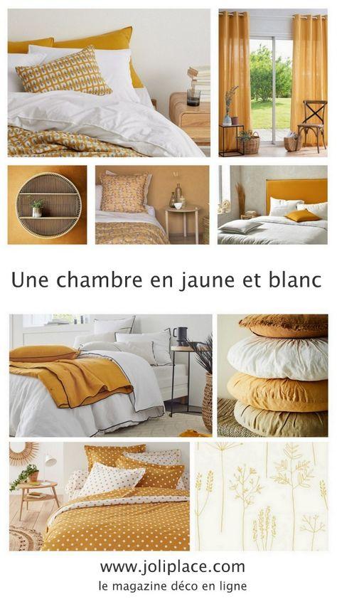 Une chambre en jaune et blanc - JOLI PLACE