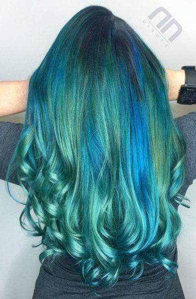 Pin On Turquoise Hair