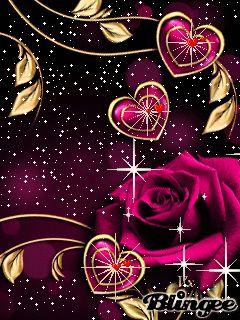 Роза любви.. - анимация на телефон №1372082