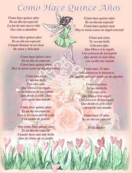 Frases Para 15 Años Originales Bellas Poemas Para