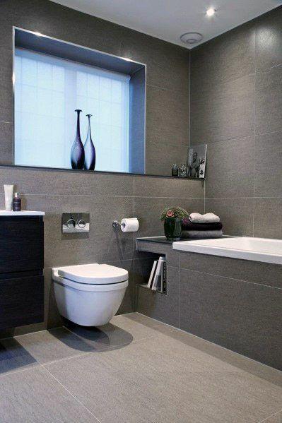 Top 60 Best Grey Bathroom Tile Ideas Neutral Interior Designs Gray Bathroom Decor Small Bathroom Remodel Modern Bathroom