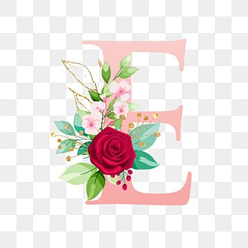 Alphabet Letter E With Watercolor Flower Letter A Clipart Logo Flower Png And Vector With Transparent Background For Free Download Lettering Alphabet Floral Letters Watercolor Flower Background
