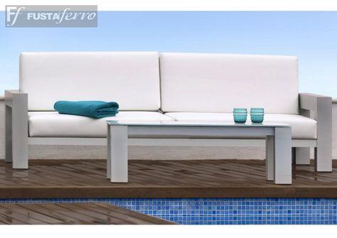Muebles De Jardin Madrid.Sofa Y Mesa De Centro De Aluminio Muebles De Jardin Madrid