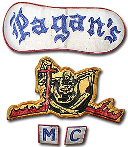 Last One Pagan/'s M C  3.5 inch   Round Embroidered Patch