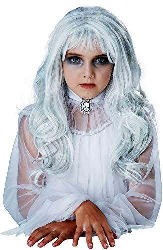 Curly Black /& Silver Wig Ladies Fancy Dress Halloween Witches Costume Accessory