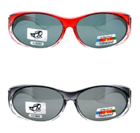 ae592157f1 Pair Womens Polarized Ombre Sunglasses - 1 Red Black   1 Grey Black -  C512K34HEMB - Women s Sunglasses