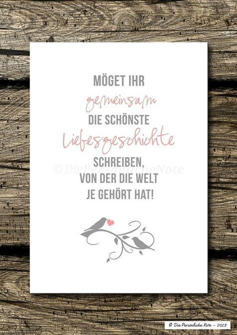 """Diesen und noch viele andere tolle Sprüche und Wünsche zur Hochzeit findet ihr auf der Pinnwand """"Hochzeitswünsche und Segenssprüche"""" von Keevamia (einfach auf Besuchen klicken). Für noch viele weitere tolle Ideen und Tipps rund um die Hochzeitszeitung folgt einfach unserer Pinnwand! #hochzeitszeitung #hochzeit #glückwünsche #spruch #wunsch #hochzeitskarte #ideen #inspiration"""
