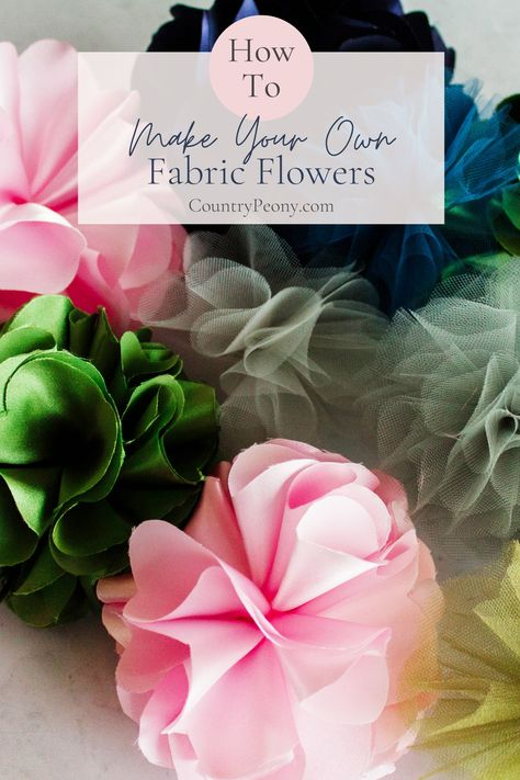 Welcome Spring with this charming fabric flowers using Clover's Flower Frill Template. The beauty in this DIY is that you can customize it to whatever color your heart desires, and you can use your fabric scraps to make a stunning statement! #fabricflowers #Cloverflowerfrilltemplate #flowerfrill