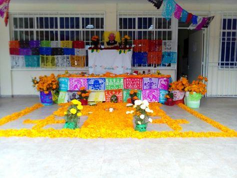 Dia De Muertos Ofrenda De La Escuela Primaria Miguel Hidalgo