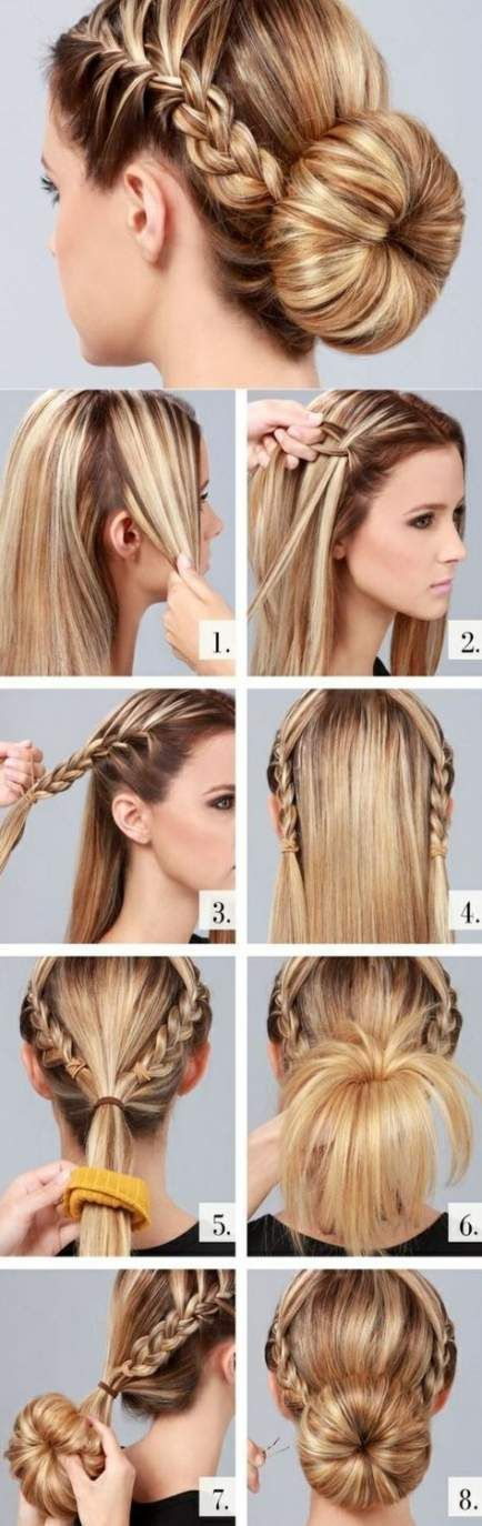 26 Ideas Hair Tutorial Work Top Knot Hair Ideas Knot Top Tutorial Work Hairtutorial Hairstyle Easy Hair Updos Easy Bun Hairstyles Donut Bun Hairstyles
