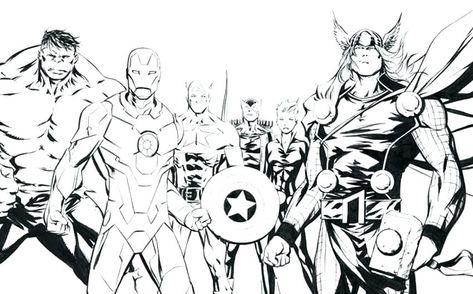 Coloriage Avengers A Imprimer Coloriage The Avengers L Equipe