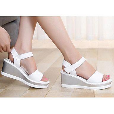 Sandalias Otoño Zapatos Mujer Cuña Primavera Tacón Confort Cuero WDYEIH29