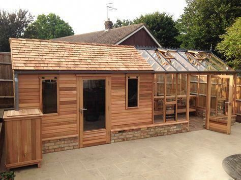 Combo Shed And Greenhouse Buildyourowndeck Storageshed Building A Shed Shed Design Greenhouse Shed