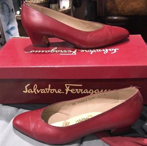 e1295a046ce Great In Box  185 Salvatore Ferragamo Snella Red Calf Size 4 1 2 B Shoes  Heels  fashion  clothing  shoes  accessories  womensshoes  heels (ebay  link)   ...