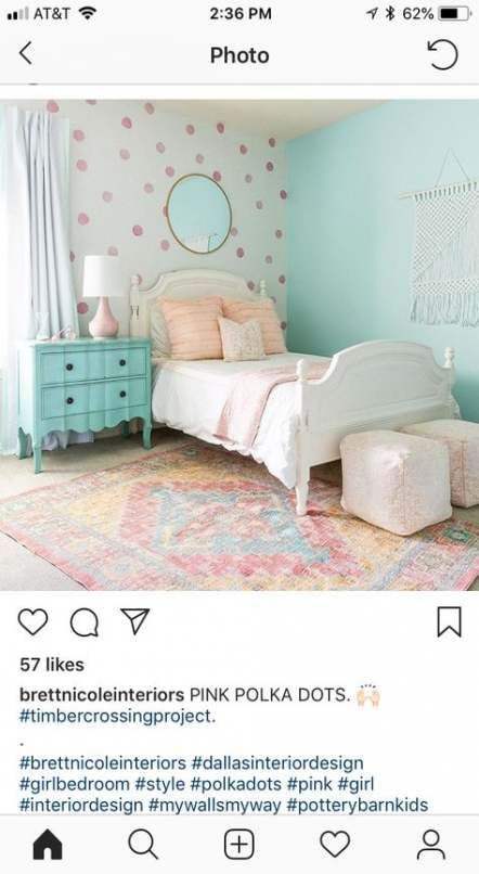 Trendy Kids Room Paint Ideas For Girls Accent Walls Polka Dots