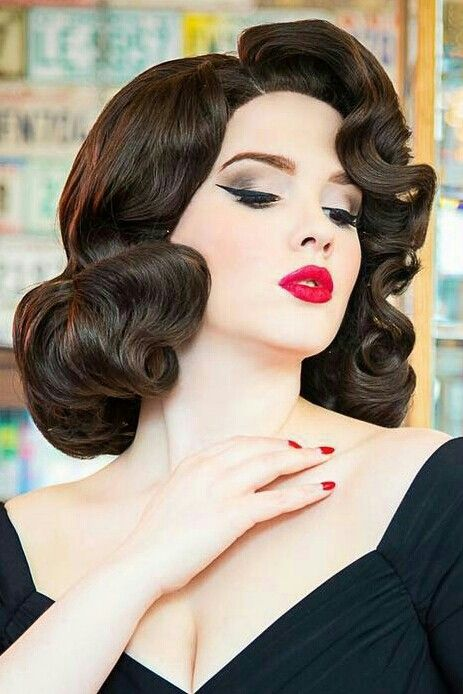 Pin By Greg Norvick On Glossy Hairset Hair Styles Vintage Hairstyles Long Hair Styles