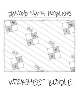 Math Diamond Problems Worksheet Bundle Factoring Trinomials