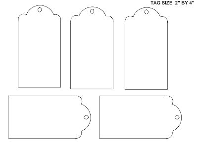 SHEETS OF BLANK TAGS