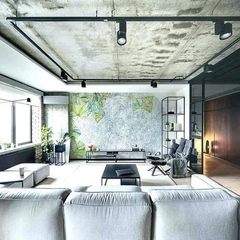 34 Ideas Track Lighting Apartment Ceilings For 2019 Ceiling Lights Living Room Accent Walls In Living Room Living Room Grey