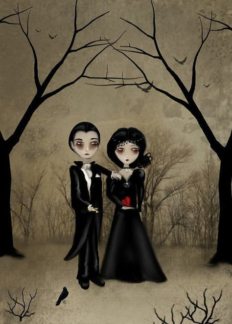 LeapYearSALE  Dark Romance Goth Art Print  BETROTHED by RusticGoth, $10.00