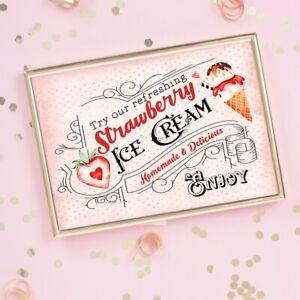 Vintage Ice Cream Sign Wedding Sign Party Decor Retro Ice Cream Bar Sign