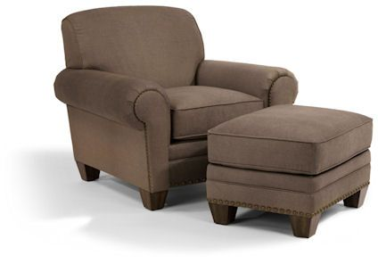 Flexsteel Furniture: Lounge Chairs: EliasChair & Ottoman (5642-10-08)