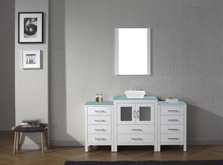 Ks 70064 G Wh Dior 64 Single Bath Vanity In White With Aqua